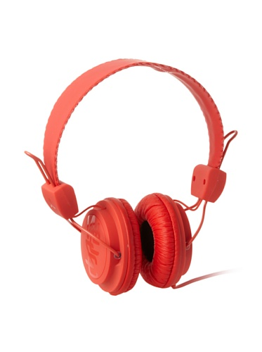 Wesc Unisex Matte Conga Premium Headphones, Hot Orange