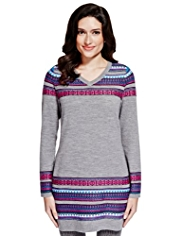 Per Una Fair Isle Knitted Tunic