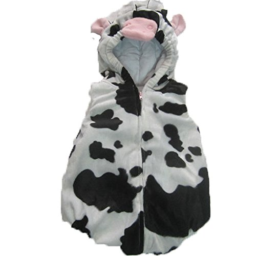 Hotshopping White Cows Design Flannel Infant Baby Clothes Costume (Size95)