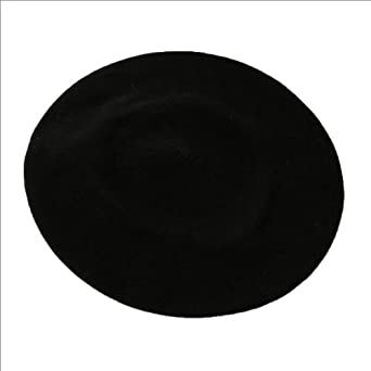 "Parkhurst 10 1/2"" Basic Beret. Black, one size."