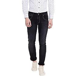 Jogur Black Color Mid Rise Regular Fit Jeans For Men (40)