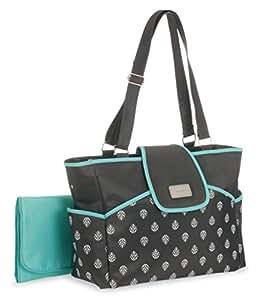 carter 39 s carry it all tote fern print diaper bag grey blue baby. Black Bedroom Furniture Sets. Home Design Ideas