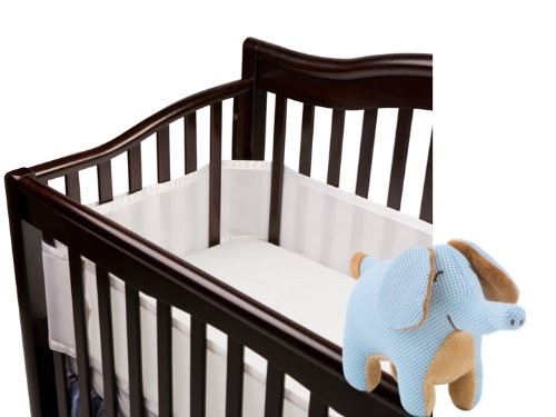 Breathablebaby Breathable Mesh Crib Liner White With Breathables Soft Toy Elephant (7In X 3In X 5In)
