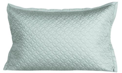 Cuddledown 400 Thread Count Meridian Quilt Sham, King, Sea Glass front-893838