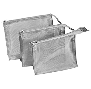 Harry D Koenig & Co Cosmetic Bag 3 Piece Set, Silver
