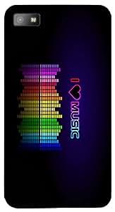 Remarkable 3D multicolor printed protective REBEL mobile back cover for Blackberry Z10 - D.No-DEZ-2452-bbz10