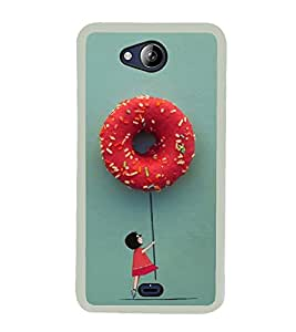 Hanging with Doughnuts 2D Hard Polycarbonate Designer Back Case Cover for Micromax Canvas Play Q355