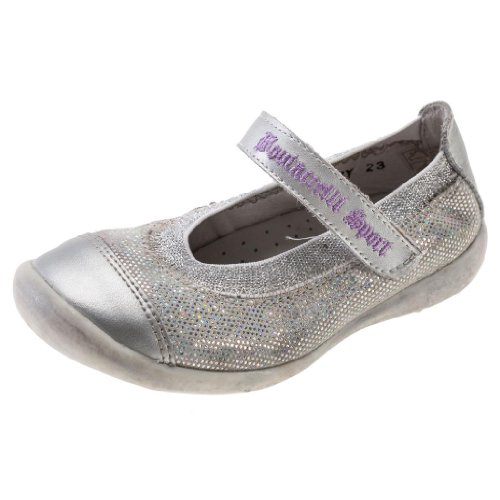 Boutaccelli Classica Girl's Patsy Silver Fabric Sneaker Shoe
