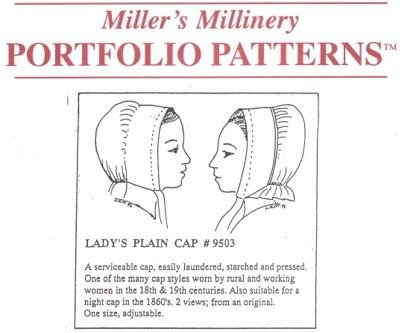 [1700's to 1800's Lady's Plain Cap Pattern] (Colonial Costumes 1700)