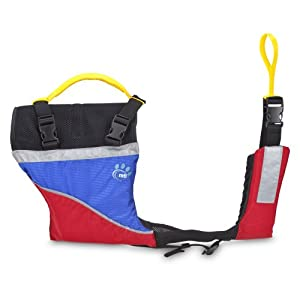 MTI Adventurewear UnderDog Canine Life Jacket, Blue Ripstop/Red, Large