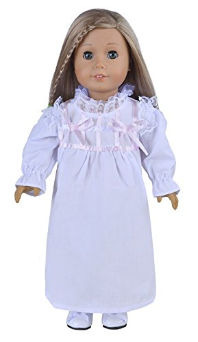 Ebuddy White Color Fashion Doll Pajamas Pjs Clothes Fits 18 Inch Doll - 1