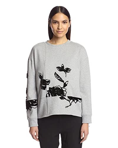 Thakoon Addition Women's Flocked Floral Sweatshirt