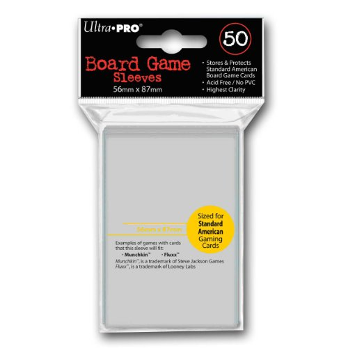 Ultra Pro Board Game Sleeves Standard American - 50 Sleeves Per Pack (56x87mm)