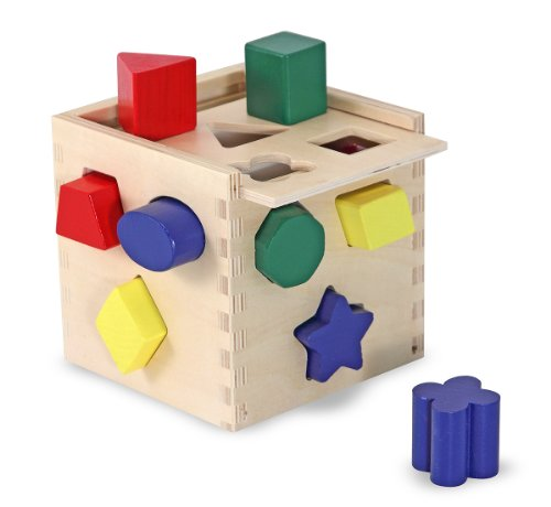 411uNtoqDRL Cheap  Melissa & Doug Shape Sorting Cube