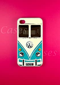 Vw Minibus Teal Iphone 4 Case, Iphone 4s Case by Dziner Cases