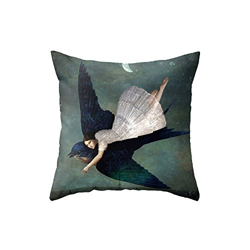 personality-decoration-throw-pillow-covers-giant-eagle-and-beauty-18x18inches-roxoutstore