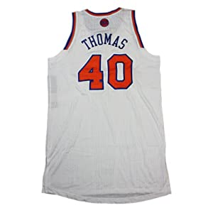 Kurt Thomas Jersey Warmup Shirt - NY Knicks 2012-2013 Season Game Used White Jersey... by Steiner Sports