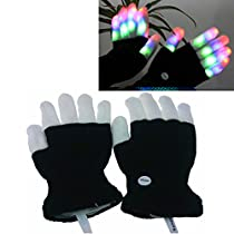 Luwint LED Colorful Flashing Finger Lighting Gloves