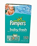 Pampers Baby Wipes Refills, Baby Fresh Scent, 770 Wipes
