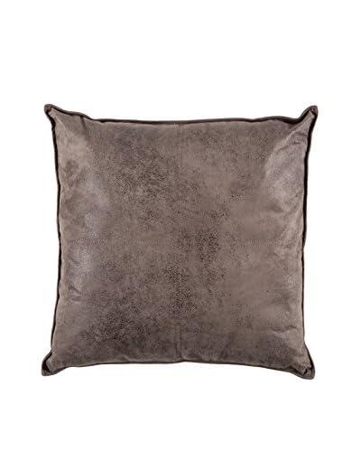 Torre & Tagus Maverick Large Faux Leather Cushion, Charcoal