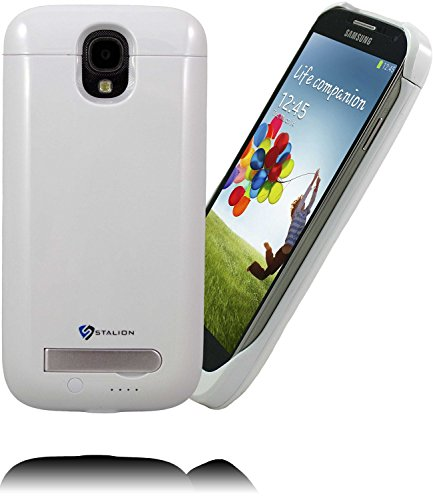Galaxy S4 Battery Case : Stalion® Stamina Rechargeable Extended Charging Case  3300mAh Protective Charger Case for Samsung Galaxy S4 with Kickstand + LED Charge Indicator Light
