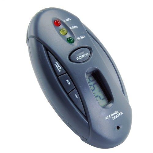 Cheap Breathalyzer Keychain Car Gadget w/ Flashlight + Stopwatch – Traffic Light Readout Style System (GADGELEC_33111)