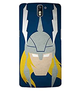 ColourCraft Warrior Look Design Back Case Cover for OnePlus One