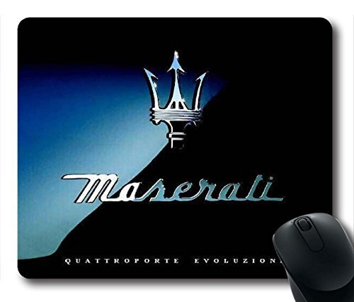Gaming Mouse Pad, Maserati Logo Personalized MousePads Natural Eco Rubber Durable Design Computer Desk Stationery Accessories Gifts For Mouse Pads