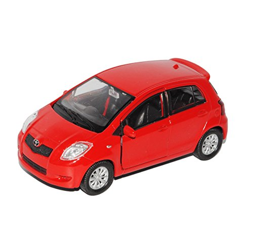 toyota-yaris-5-turer-rot-xp9-2006-2011-ca-1-43-1-36-1-46-welly-modell-auto