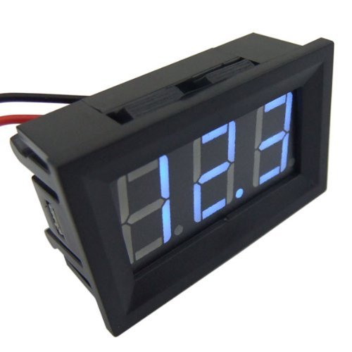 Vvw 2 Wire Blue Led Panel Led Display Voltage Meter Voltmeter-With Reverse Connection Protection