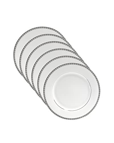 10 Strawberry Street Set of 6 Athens Platinum 10.75 Dinner Plates