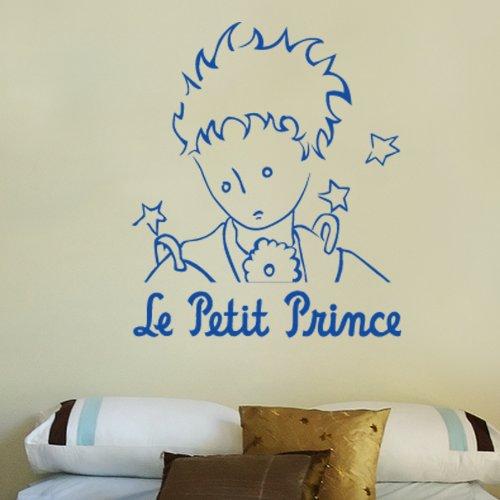 PICCOLO PRINCIPE RITRATTO MONO - Adesivi Murali - Wall Stickers - per la decorazione della casa e della cameretta