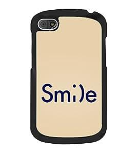 Smile 2D Hard Polycarbonate Designer Back Case Cover for BlackBerry Q10