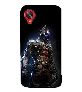 printtech Futuristic Dark Knight Back Case Cover for LG Google Nexus 5 / LG Google Nexus 5 (2014 1st Gen)