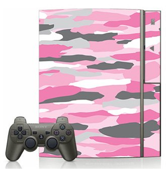Pink Camo Skin for Sony Playstation 3 Console
