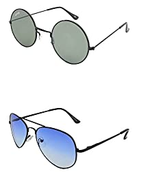 Benour BENCOM010 Combo Unisex Sunglasses