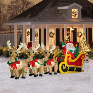 Amazon Com Christmas Decoration Lawn Yard Inflatable Airblown Santa