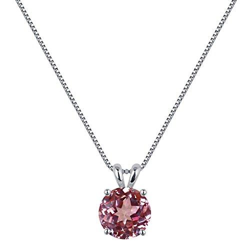 [ジュエリーキャッスル] Jewelry Castle ネックレス 2カラット シンセティック パパラチア サファイア 一粒ネックレス