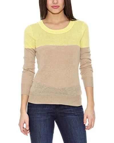Springfield Jersey Bs-Round lino Sweater Beige / Amarillo
