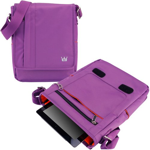 CaseCrown Vertical Mobile Messenger Bag (Purple) for iPad 4th Generation with Retina Display, iPad 3 & iPad 2