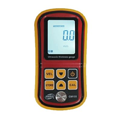 LotFancy Digital Ultrasonic Thickness Meter Tester Gauge Metal Tester 1.2-220mm GM100