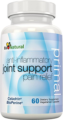 Primal Joint Support Anti-inflammatory Pain Relief, 60 Vegetarian Capsules (Extra Strength Formula with Celadrin, Curcumin, Boswellia)