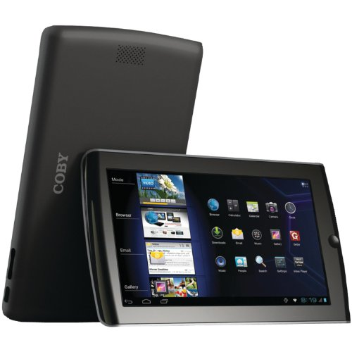 Coby Kyros 7-Inch Android 4.0 4 GB Internet Tablet 16:9 Resistive Touchscreen, Black MID7034-4