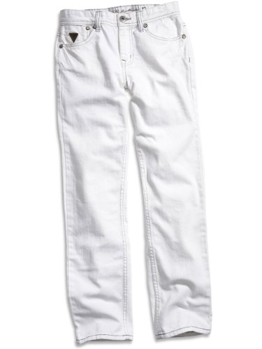 GUESS Kids Boys Big Boy White-Wash Brit Rocker Jeans, WHITE (10)