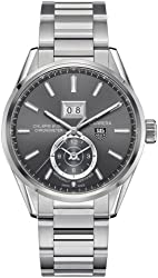 Tag Heuer Carrera Calibre 8 GMT Grey Dial Stainless Steel Mens Watch WAR5012BA0723