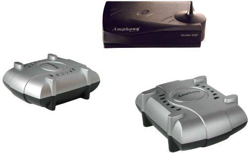 Wireless Speaker Kit With 2 Wireless Amplifiers