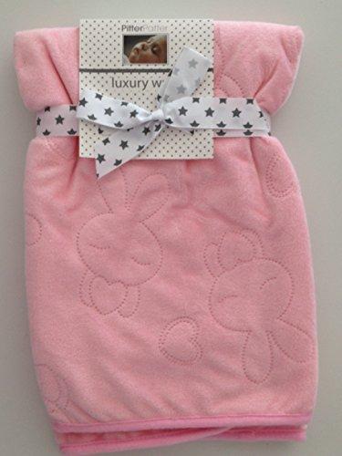 Tres Bella Dolce Cover per Bebe Rosa 75x 75cm con dei Conigli e di cuori pelliccia