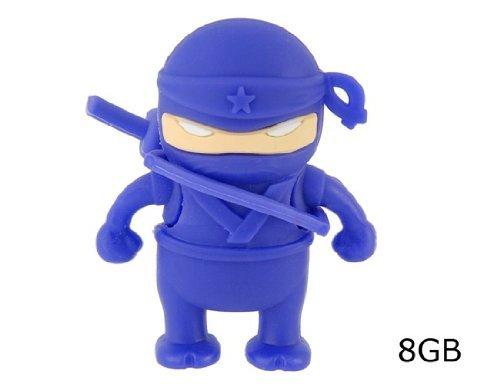 D-CLICK TM High Quality 4GB/8GB/16GB/32GB/64GB/Cool Shape USB High speed Flash Memory Stick Pen Drive Disk (16GB, Ninja Blue)