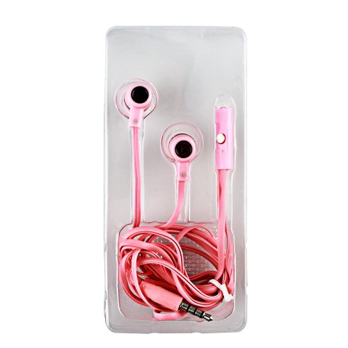 Jennyshop Pink Earphone With Microphone Switch - Perfect For Phones And Computers