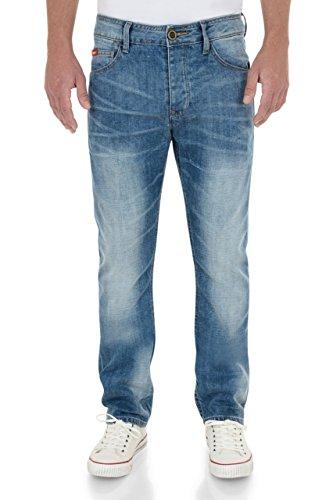 Lee Cooper -  Jeans  - Straight  - Uomo Bleu - Délavé 32W x 34L